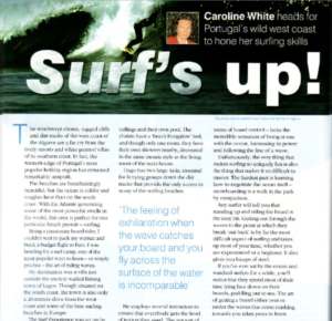 surfing article by Caroline White